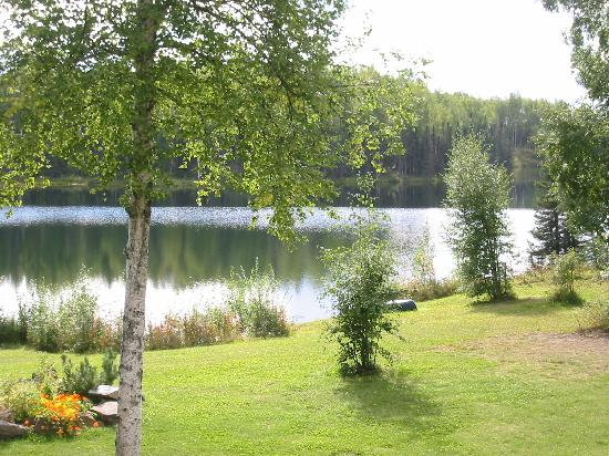 Talkeetna Bed & Breakfast: The lake just outside the back door !
