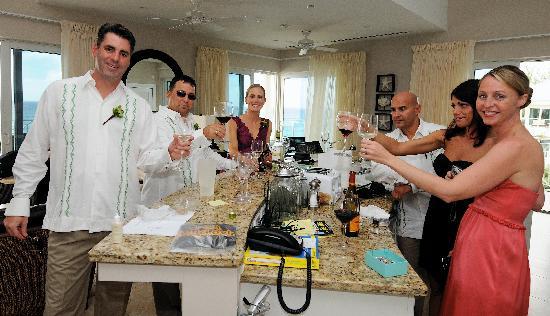 Caribbean Club: toast in groom's condo