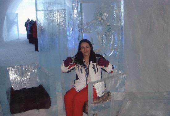 levi finland ice drink in ice glass ice hotel sweden