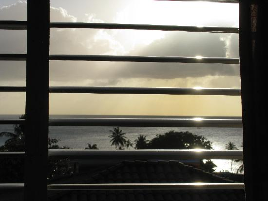 Paradise Villas: View from Villa bedroom window