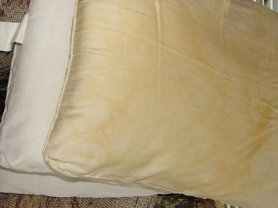 Whaleshead Beach Resort: Pillows...  Look at the Stains