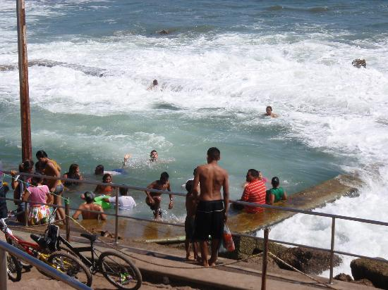 """Playa Olas Altas: Another view of the salt water swimming """"pool""""."""