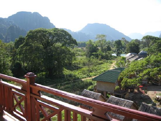 Thavisouk Riverside Hotel: balcony view