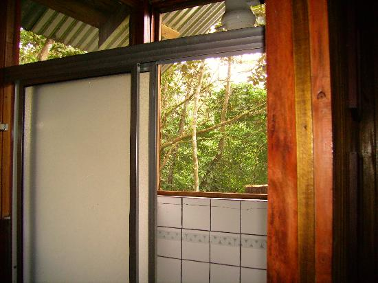 Tree Houses Hotel Costa Rica: shower with screen windows