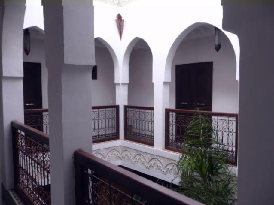 Riad Aguaviva: galerías planta superior