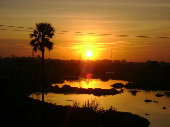 Hyderabad, Indien: Beautiful sunset in Hyde 4