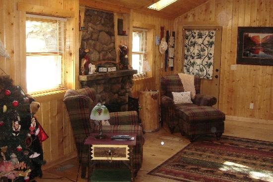 Knotty or Nice Cabin: Sitting Area