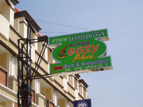 Ao Nang Cozy Place: Sign