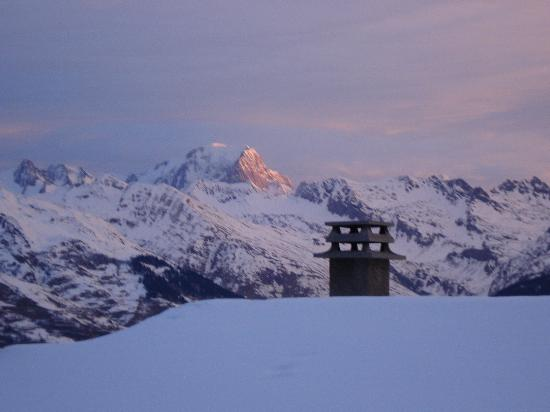 Ancolies Lodge: Mount Blanc from our Balcony