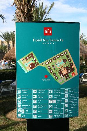Map Of Resort Picture Of Hotel Riu Santa Fe Cabo San