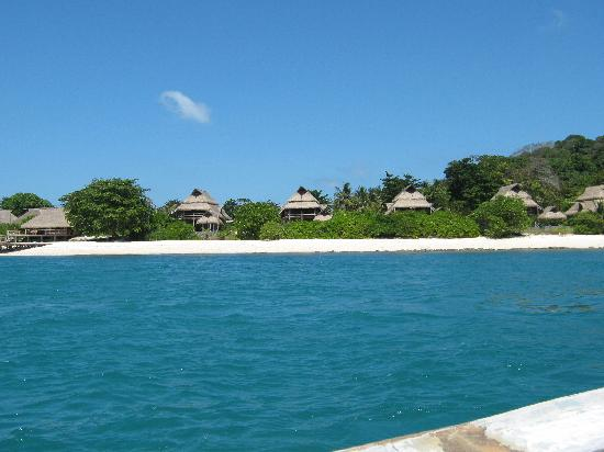 Nikoi Island: View from the boat.