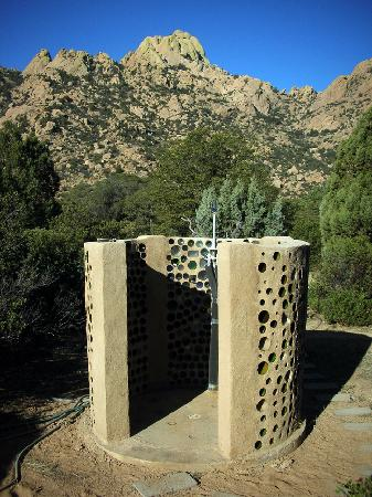 Cochise Stronghold, A Nature Retreat: Outdoor solar shower
