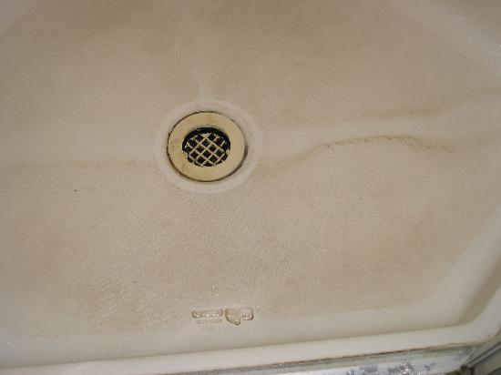 Kai's Bed and Breakfast: dirt stained shower