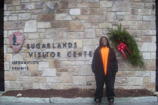 Sugarlands Visitors Center: in front of center