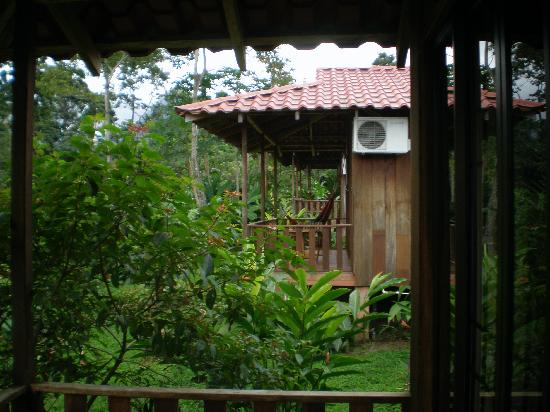 Hotel Rancho Cerro Azul: View from our back porch to the other cabinas