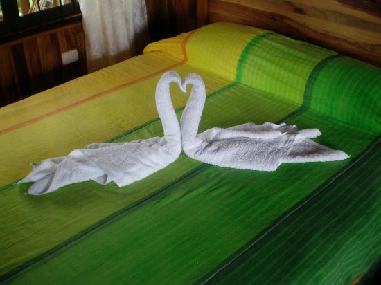 Hotel Rancho Cerro Azul: towel art!