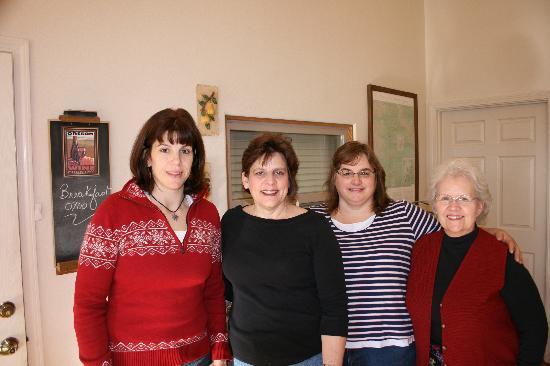 Lobenhaus Bed & Breakfast & Vineyard: The Women with SHARI our Host!!!