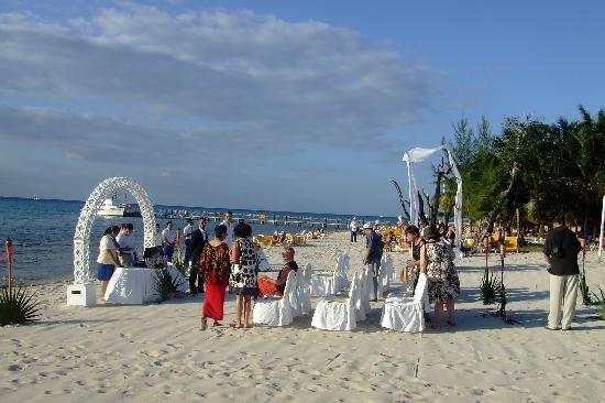 Iberostar Cozumel Wedding Set Up On Beach
