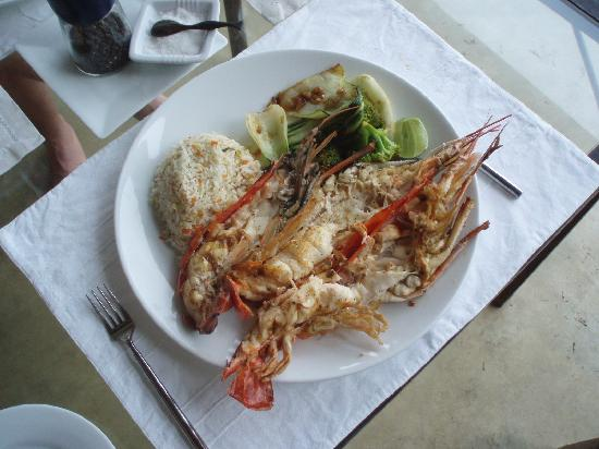 The Frangipani Tree by Edwards Collection : Delicious jumbo prawn filling the whole plate