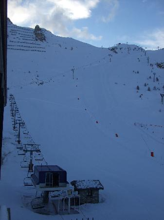 Levanna: view of le rosset beginners slope from room