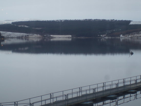Kielder, UK: the view from 1 of the pubs bay winows