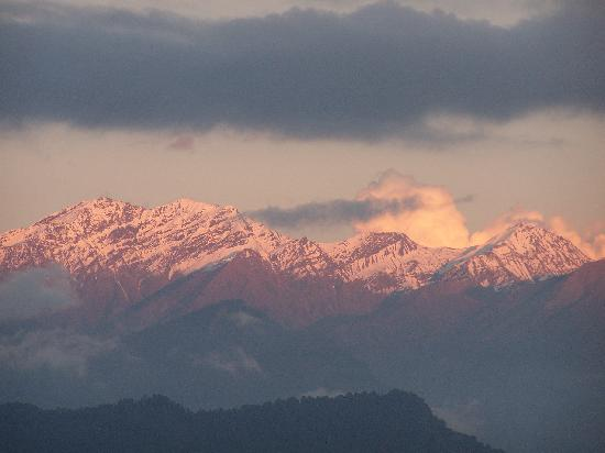 Munsiyari, India: Sunset on Peaks south of Panchachuli Range as Seen from Munsyari