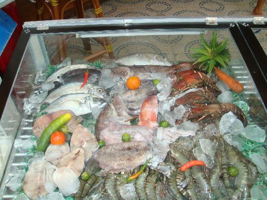Bougainvilla Resort: The fresh seafood catch at Luna Rossa