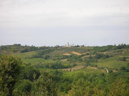 Torraccia di Chiusi: La vista di San Gimignano