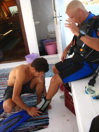 Oonas Dive Club Hotel: Dale recieving 5* service