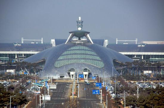 Incheon Airport Guesthouse: View of Incheon International from my room