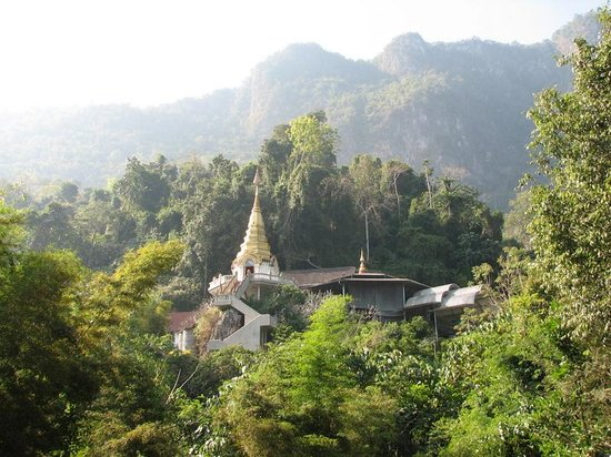 Chiang Dao, Tajlandia: Temple view from rest area