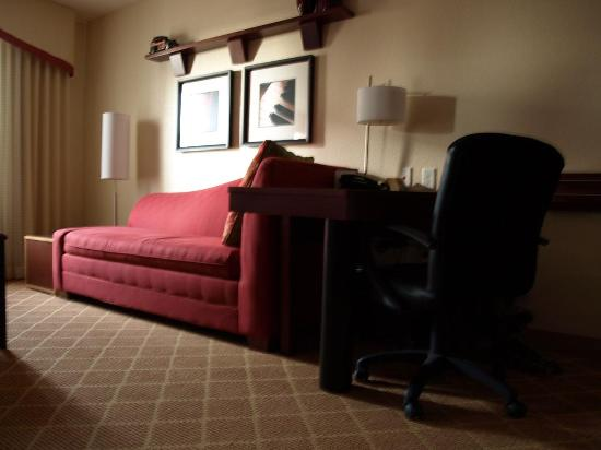 Residence Inn Dothan : Living room with recliner, chaise and desk