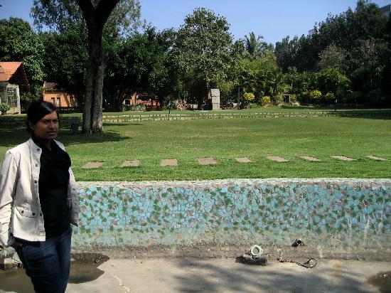 Manipal County : garden where got married