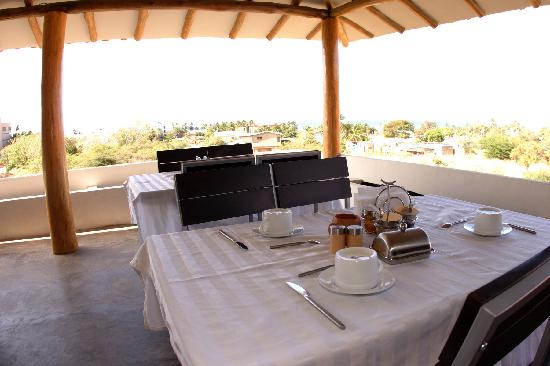Posada Yemaya: Breakfast terrace