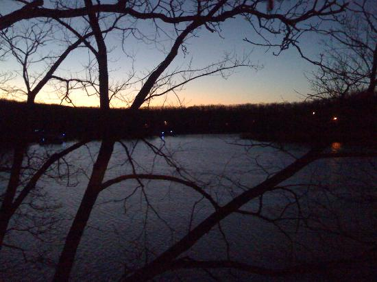 Bass and Baskets: view from my balcony over the lake