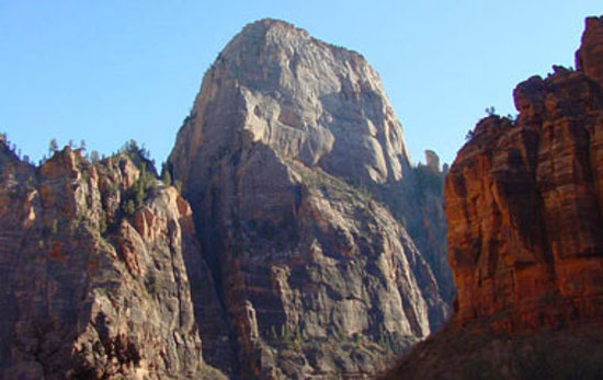 A view of the Great White Throne in Zion National Park - near St. George Utah