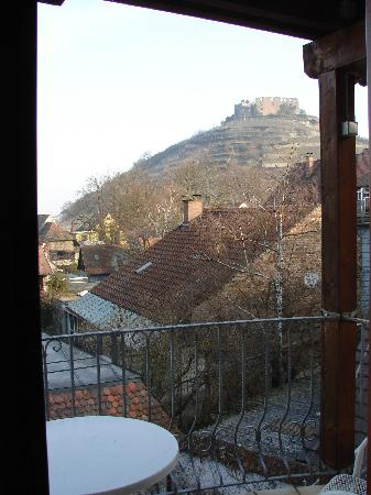 Staufen, Germany: View from inside room - facing the castle ruin