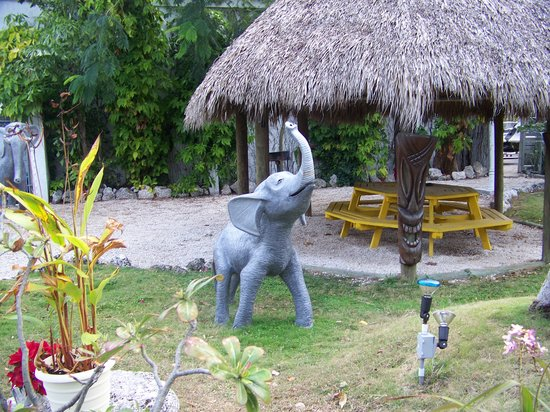 Sunset Cove Beach Resort: The animals are so funny...perfect Kitch