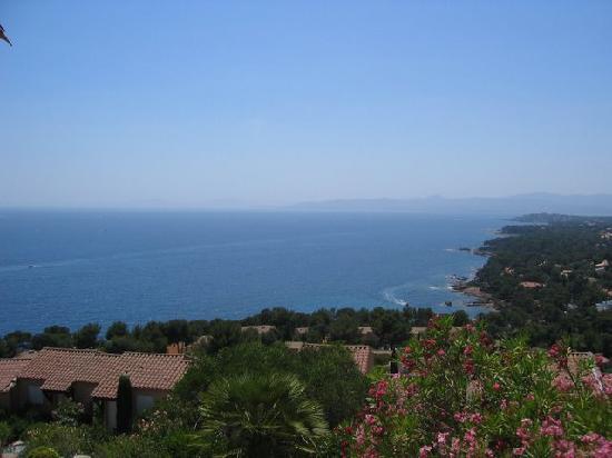 vista dal Villaggio Boulouris Panorama: di fronte di nots st. maxime e st. tropez...amazing!