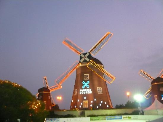 Lotte Hotel Jeju : 庭の風車