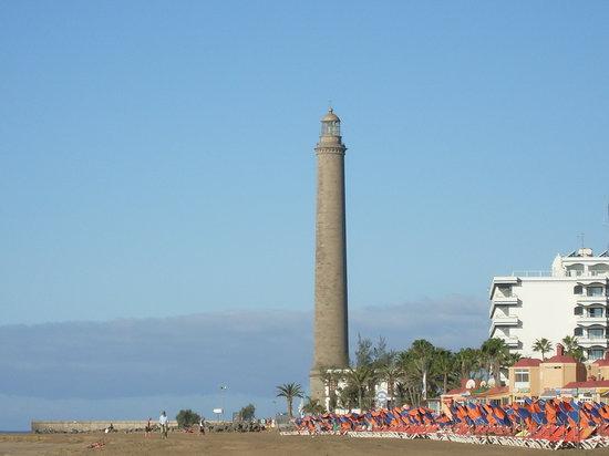 Maspalomas, İspanya: Leuchtturm an den Dünen