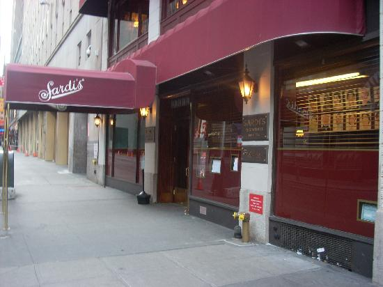Sardi's Restaurant: A side view of the awning and entrance at Sardi's