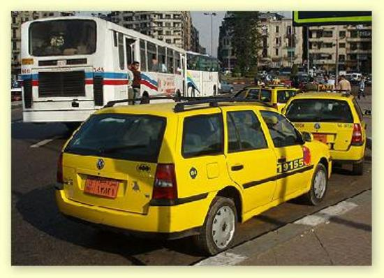 Yellow cab in Cairo