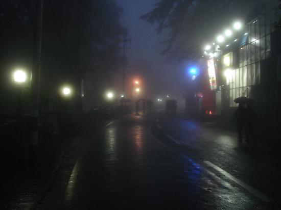 Mussoorie, India: Fog, Rain And Mall Road