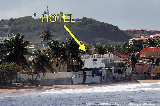 Hotel Yunque Mar: Hotel Position
