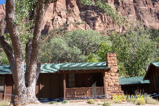 A pic from one of our hikes picture of zion lodge zion for Cabin zion national park