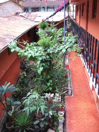 Hostal Machu Picchu: 中庭
