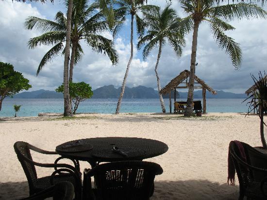 El Nido Resorts Miniloc Island: Plage du repas du midi