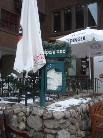 Alpenrose Restaurant: The sign - you have to be looking for it!