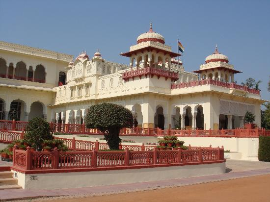 Rambagh Palace: External view of one wing of the hotel
